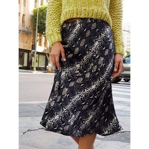 💫 NATION LTD Mabel Snakeskin Midi Skirt XS